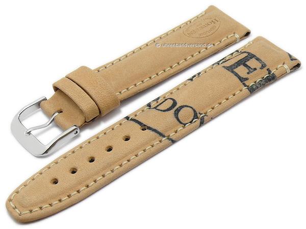Racing Cordovan Shell vintage Style  Uhrband 20//16mm braun beige Edition