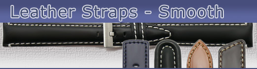 Huge range of watch straps made of leather with a smooth surface