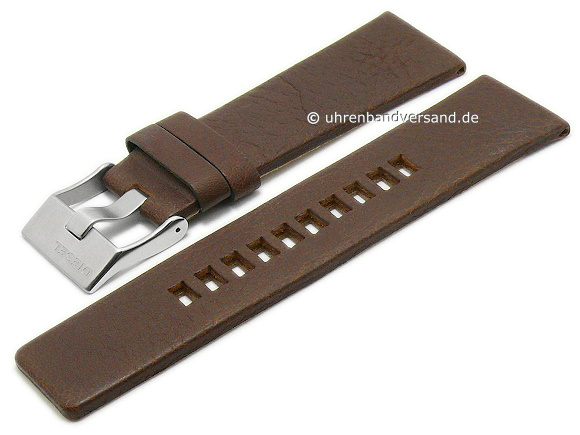 Replacement Watch Strap Diesel 26mm Dark Brown Leather Grained For Dz4281 Etc