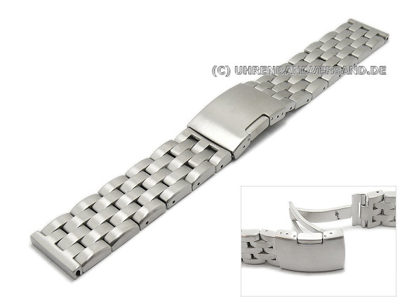 Types Of Watch Bands >> Watch Band Ls Mc06 Stainless Steel Solid 24mm Brushed