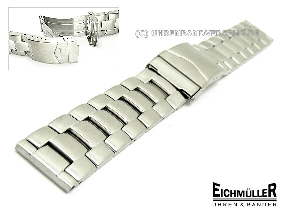 Types Of Watch Bands >> Watch Band Stainless Steel 24mm Solid Brushed