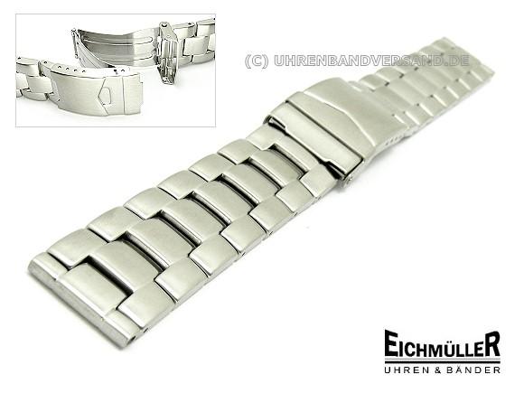 9eaf6608912 Watch band 24mm stainless steel solid heavy type brushed from Eichmueller - Bild  vergrößern