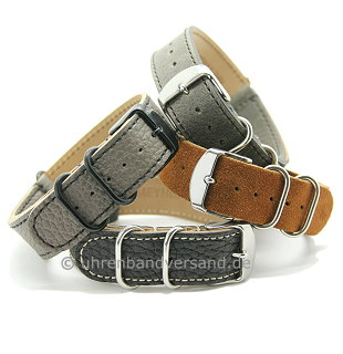 MyAventura-01: Watch straps NATO - Style one piece from Meyhofer in various styles MADE IN GERMANY