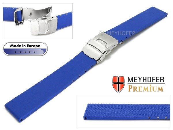 Watch band -Kiel- 22mm royal blue caoutchouc by MEYHOFER (width of buckle 20 93f30c899c46