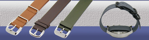 One-Piece Watch Straps - Your watch strap to pull under the watch casing - also NATO Straps