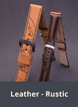 Rustic leather watch straps
