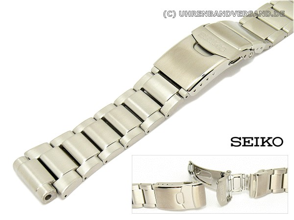 Replacement Watch Strap Seiko 20mm Stainless Steel Solid With Clasp For Ska367 Srp043 Etc