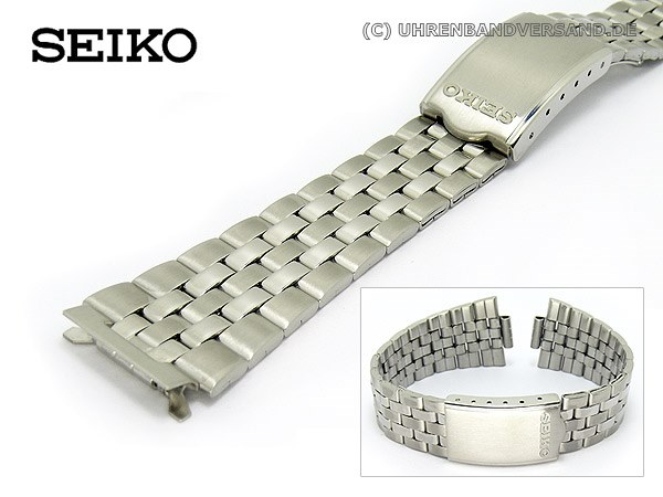 Replacement Watch Strap Seiko 18mm Stainless Steel With Clasp For Sgf025 Etc