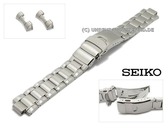 Replacement Watch Strap Seiko 20mm Stainless Steel With Diver Extension For Sne107p1 Sbdj001