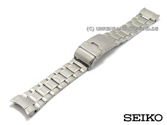 Replacement Watch Strap Seiko 21mm Stainless Steel Partly Solid With Diver Extension Ska509