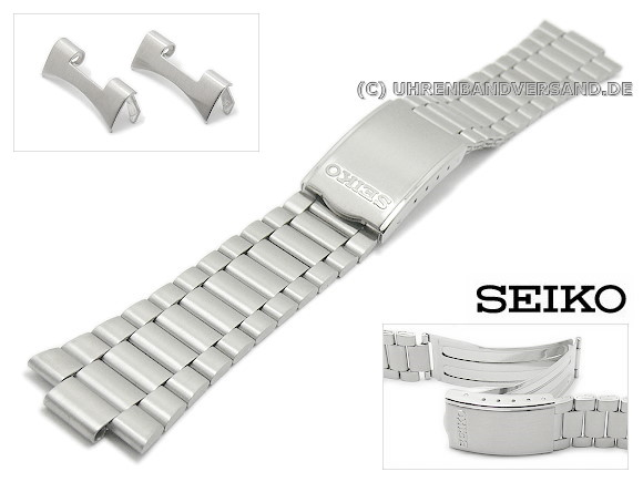 Replacement Watch Strap Seiko 19mm Stainless Steel Curved Ends For Scwf01 Scwf05 Scwf09 Etc