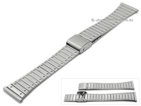 4fde8ef96ec Watch strap 20mm stainless steel folded matt with slide clasp - Bild  vergrößern