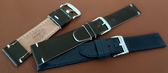 Watch straps made of shell cordovan leather