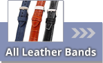 Watch straps made of leather