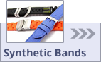 Watch bands made of synthetic materials
