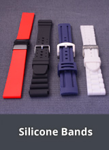 Watch straps made of silicone/caouchouc