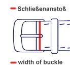 Measuring the width of buckle of your watch strap