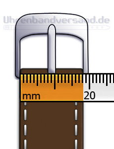 The width of buckle or clasp for your watch straps