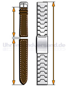 Correct watch strap length for your wrist