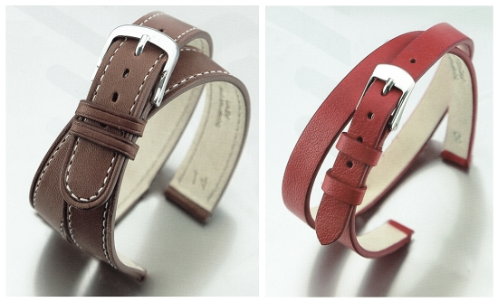 Watch straps in wrap-around style