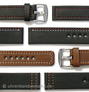 Design watch straps by PATTINI made of leather diverse models